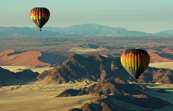 Sossusvlei Activities Hot Air Ballooning Over The Namib
