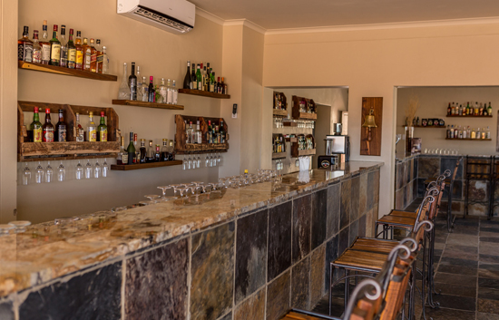 Fully Stocked Air-conditioned Bar at Sossusvlei Lodge