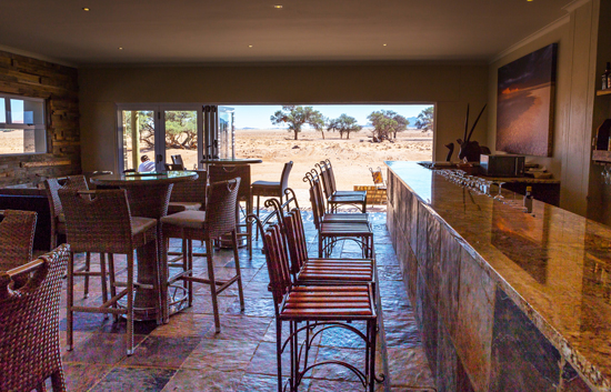 View from the Bar at Sossusvlei Lodge