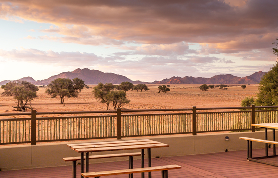 Breathtaking views from the Sundowner Deck