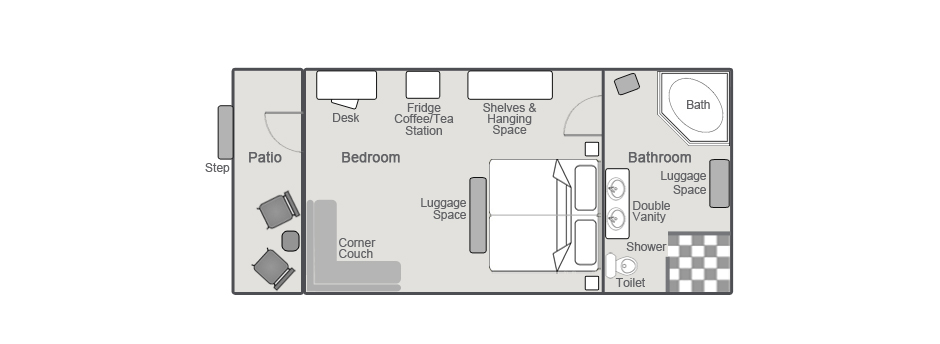 Sossusvlei Lodge Superior Unit Layout