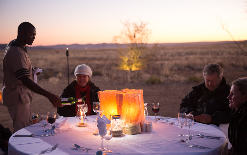 Sossusvlei Lodge Adventure - Bush Dinner Setup