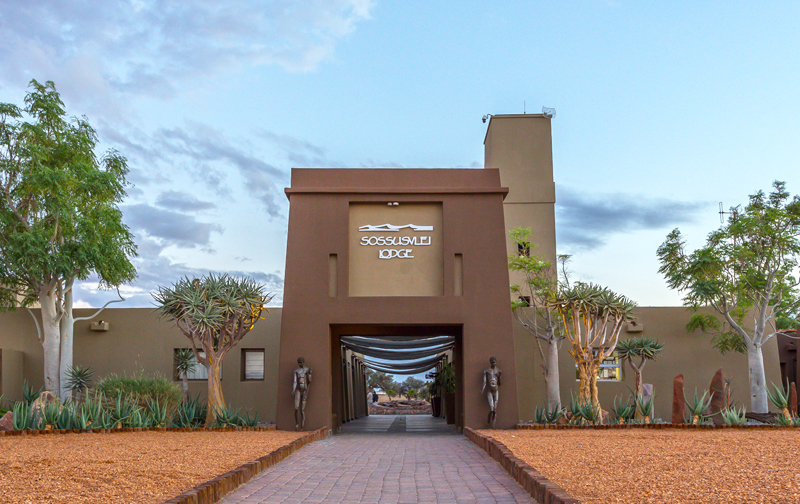 Entrance to Sossusvlei Lodge