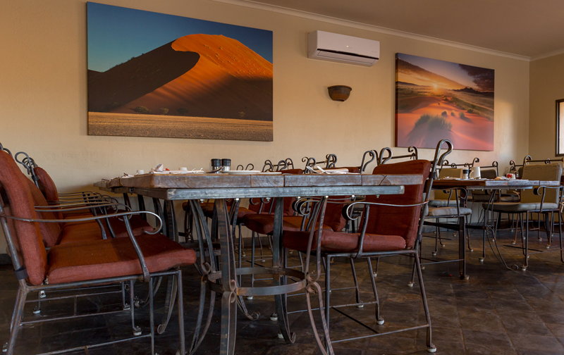 Indoor Restaurant at Sossusvlei Lodge