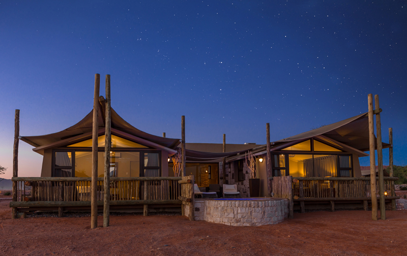 Sossusvlei Lodge - Junior Suite Night View